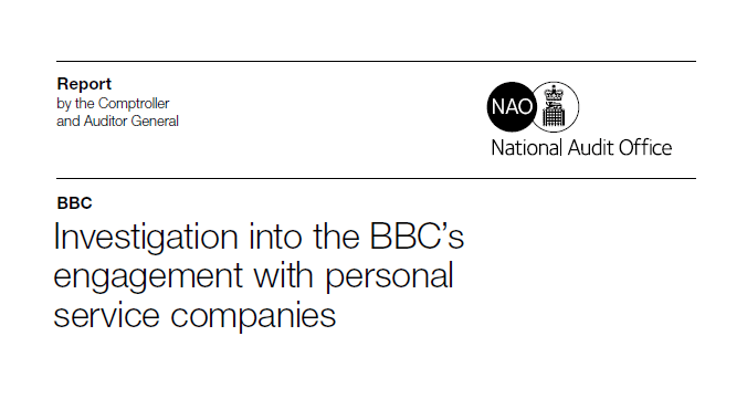 NAO report exposes Off-Payroll chaos within the BBC