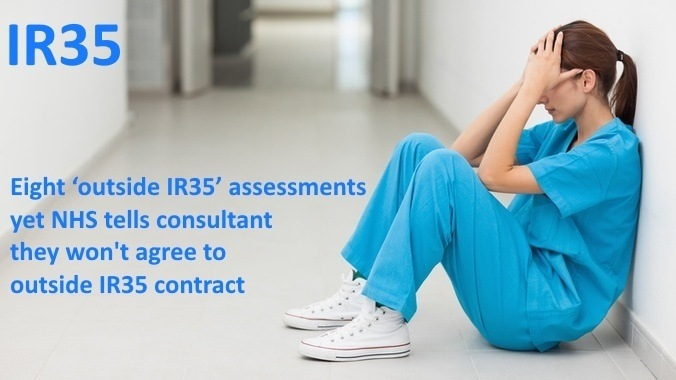 Eight 'outside IR35' assessments not enough to secure NHS consultant outside contract